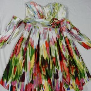 Dresses & Skirts - Ladies Water Color Summer Dress Size 5